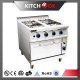 4 Burner Gas Cooker with Gas Oven, Gas Range Oven