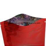 Red Mylar Ziplock Medical Packaging Bag