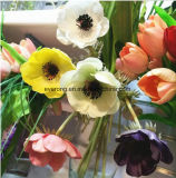 PU Real Touch Handmade Scented Artificial Anemone Flower Arrangement