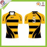 Wholesale Cheap Custom 100% Polyester China Factory Design Rugby Jersey Shirt Wear