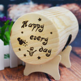 Trade Assurance Unopenable Wooden Money Box