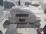 Aurora Brown Granite Headstone with Mountain Shape