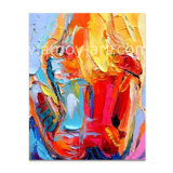 Handmade Multicolors Abstract Canvas Oil Painting by Palette Knife