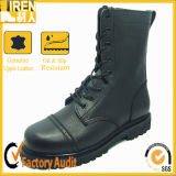 Genuine Leather Black Military Boots