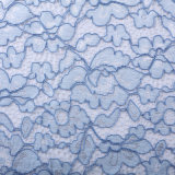 Cotton Nylon Yarn-Dyed Strand Two-Colors Lace Fabric