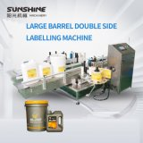High Speed Automatic Large Barrel Bottle Double Side Labeling Machine for Packing Machine