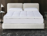 Hotel Double Layer White Duck Down Feather Mattress Topper