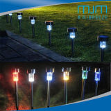 Cheap Stainless Steel Solar LED Garden Light with Colorful Light