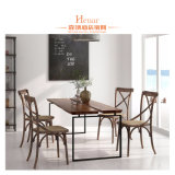 Latest Design Metal Dining Furniture Table with Chairs Set
