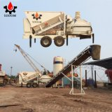 25 M3 / H Construction Machinery Mobile Mixing Concrete Batching Plant