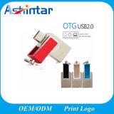 USB2.0 Mini USB Flash Disk Twister USB Stick Metal OTG Phone USB Flash Drive