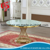 Luxury Restaurant Dining Hotel Banquet Wedding Event Furniture Round Table with Glass Top