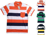 Men's Yarn Dyed Polo Shirt 100% Cotton Embroidery