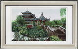 Beautiful Construction Art Painting of Antique Garden
