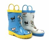 Kids Rubber Rain Boots with Handle