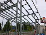 Construction Prefabricated Light Frame Structural Steel Structure with SGS Certification