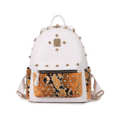 Snake Pattern Leather Women Rivet Fashion Backpack