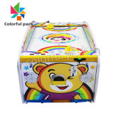 Colorful Park Coin Operated Kids Air Hockey Table Exercise Arcade Kiddie Game Machines for 2 Players