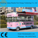 Pink Color Food Truck Vans for Selling Ice Cream/Drinks with Signboard