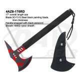 """17"""" Overall 3Cr13 Black Painting Axe with Green Paracord: 4at1-170agn"""