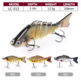 Wholesale 12.5g 100mm Multi Jointed Hard Plastic Fishing Lure