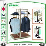 Customized Clothing Store Wooden and Metal Display Stand
