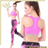 Women's Athletic Workout Yoga Legging and Sports Bra Set