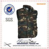 Military Mens Camo Pocket Vest