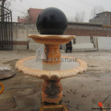 Sunset Red Marble Water Garden Fountain for Outdoors Decoration