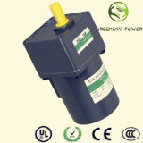 6W 60mm AC Induction Electric Gearmotor with Gearbox