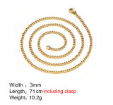 Custom Wholesale Cube Link Chain Necklace for Women Man