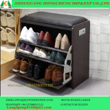 Black Shoes Cabinet with Stool