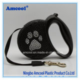 Luxury Dog Leash, Rhinestone Dog Leash, Leather Retractable Dog Leads