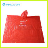 One Time Use PE Disposable Rain Poncho Rvc-116