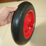 Steel Rim or Plastic Rim Black Rubber Solid Wheel