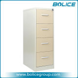 4 Drawers Alloy Pull Handle Vertical Metal File Cabinet