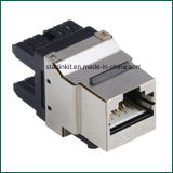 CAT6 Shielded Metal Punch Down Keystone for CAT6 STP Cables