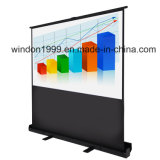 100 Inch Floor Pull-up Projector Screen, Portalbe Projection Screen