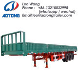 3-Axle 40FT Bulk Corn Transport Curtain Side Container Semi Trailer