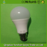 B22 9W LED Bulb with Aluminum and Plastic Body
