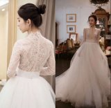 Cheap Real Pearls High Quality Bridal Gown Wedding Dress