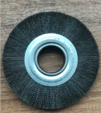 Twisted Knotted Wheel Flat Brush for Deburring and Polishing