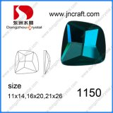 Promotional Shiny Dz-1150 Emerald Color Irregular Crystal Beads for Shoes