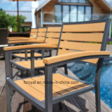 Home Hotel Restaurant Garden Outdoor Furniture Dining Table Set Aluminum Plastic Wood Polywood Chair