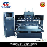 8 Head Flat & Rotary Table Move Wood CNC Router Machine