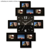 Europen Wall Mount Wooden Digital Photo Frame with Clock Wholesale