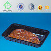 Black PP Plastic Meat Tray with/Without Absorbent Pad