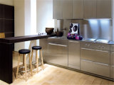 China New Style Metal Kitchen Cabinet Furniture Glass Door