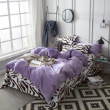 Home Textile Purple Polyester Flannel Fleece Chinese Bedding Set