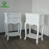 Wood Bedroom Furniture Nightstand Cabinet Design with Two Drawers